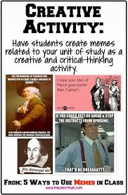 Make A Meme Poster - have your students create a meme relating to your unit of study