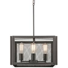 Kichler Lighting Kitchen Lighting by Kichler Lighting Saybridge 16 In Bronze Industrial Single Cage