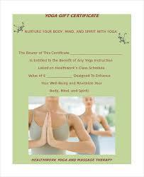 yoga certificate template 9 free word pdf psd format downloads