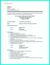 Best Resume Format For Civil Engineers Freshers by Resume Sample For Civil Engineer Free Resume Example And Writing