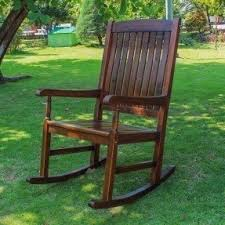 Unfinished Wood Rocking Chair Patio Rocking Chairs Foter