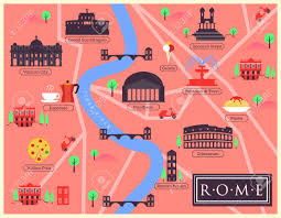 Map Rome City Map Of Rome Italy Royalty Free Cliparts Vectors And Stock