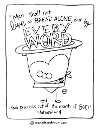 Waiting On The Word And Eating The Better Bread Matthew 4 4 Coloring Pages Bread