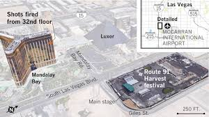 Las Vegas Traffic Map How The Las Vegas Mass Shooting Investigation Is Unfolding Los