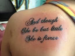 shakespeare quote tattoos shakespeare