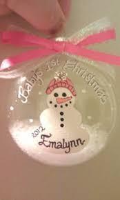 baby handprint santa ornament custom baby ornament