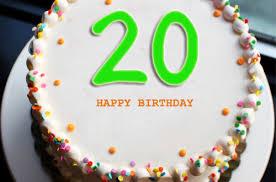 20th Birthday Meme - happy 20th birthday cake with name 2happybirthday