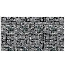bulk halloween scene setters party supplies stone wall backdrop 6cs