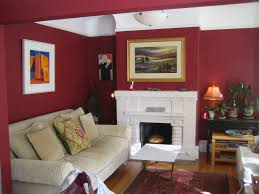 red bedroom wall paper mixed white painted wall design combined