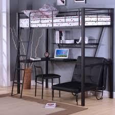 Bunk Bed With Workstation Bunk Bed Desk Combo Wayfair
