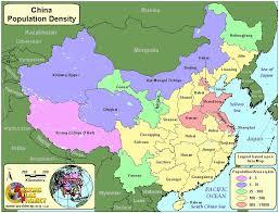 China Population Density Map by China Worldmap Org