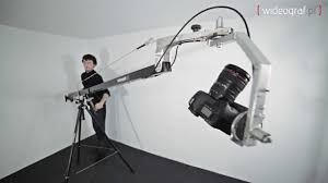 jib crane with manual control pan tilt head youtube