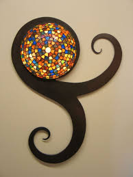Stained Glass Wall Sconce Crafted Style Stained Glass Wall Sconce Painted
