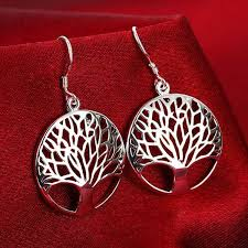 silver earrings bracelet set images Tree of life lucky silver plated pendant necklace earrings jpg