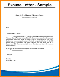 9 example of excuse letter for absence farmer resume