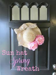 sun hat spring wreath from glamorous affordable life