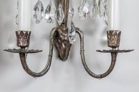 Crystal Wall Sconces by Set Of Four Swedish Crystal Wall Sconces