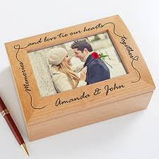 personalized keepsake boxes personalized wooden photo keepsake box