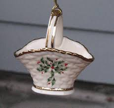 Lenox Christmas Carousel Ornaments by Lenox Christmas Ornament Vintage Holly And Berries Basket