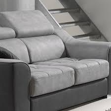 canapé 3 places gris canape 3 places gris en tissu sofamobili