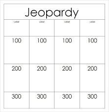 printable jeopardy template the best letter sample