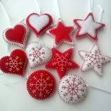 delivery after felt ornaments classic
