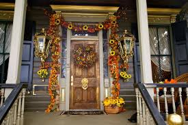 Christmas Decorations For A Front Porch Columns by