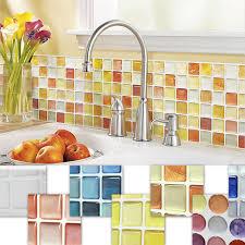 Washable Wallpaper For Kitchen Backsplash by Mosaic Tile Wallpaper Ebay