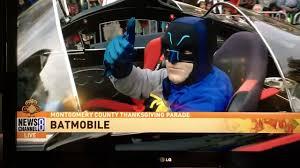 batmobile in silver thanksgiving parade 2017