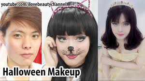 Halloween Makeup Man Halloween Makeup Transformation Man To Catwoman And Princess