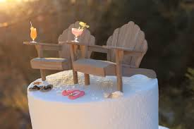beach theme wedding cake topper adirondack landscapesnminiature