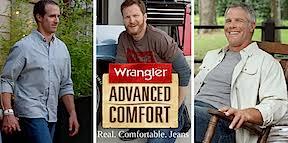 Wrangler Real Comfortable Jeans Nysportsjournalism Com Wrangler Ad Unites Favre Brees Earnhardt