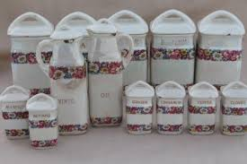 antique canisters kitchen antique china canister set early 1900s vintage czechoslovakia