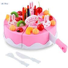 54 Piece Children Kitchen Toys Plastic Play House Fruits Birthday