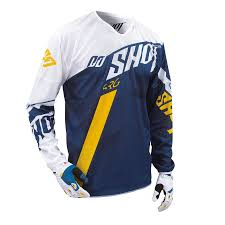 shot motocross gear tricou shot flexor system blue yellow husqvarna factory