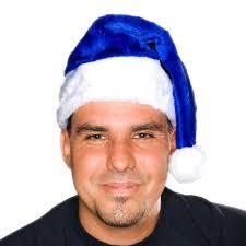 blue santa hat christmas costumes santa hats century novelty