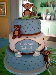 monkey baby shower cake monkey boy baby shower cake cakecentral
