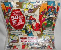 comic wrapping paper friends vintage birthday gift wrapping paper dc comics