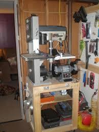 Garage Workshop Organization Ideas - woodshop storage ideas press bench grinder compressor and