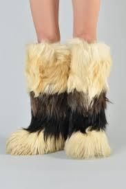 boots hair vintage apres goat hair fur boots us 7 5 europe 38 uk 5 au