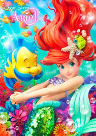 disney mermaid ariel 3d lenticular greeting card