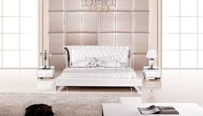 Bedrooms  Adonis Black Tufted Leather Platform Bed Modern Leather - White tufted leather bedroom set