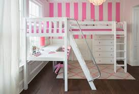 white loft bed with desk loft bed with desk and storage white bed
