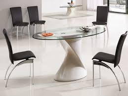 modern oval dining tables oval glass dining table modern black furniture tables kitchen
