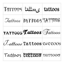 letras para tatuajes diferentes diseños y estilos de letras para