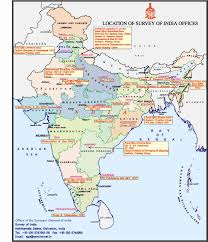 Map Of Indian States by Organisation Survey Of India