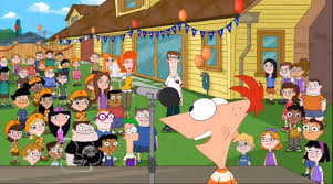 Phineas And Ferb Backyard Beach Game Image Actress And Sally In Backyard Jpg Phineas And Ferb Wiki