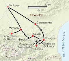 Toulouse France Map by Hiking In The Land Of The Cathars Itinerary U0026 Map Wilderness
