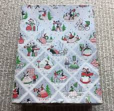 vintage christmas wrapping paper rolls 437 best vintage gift wrap images on vintage gifts