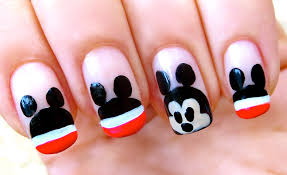 unhas do mickey mouse nail art youtube